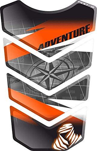 PARASERBATOIO ADESIVO, TANKPAD, TANKSCHUTZ, PROTECTION DE RESEVOIR, RESINATO EFFETTO 3D compatibile con KT.M 1050 1090 1190 1290 Adventure AdventureR R Adventure-R v4
