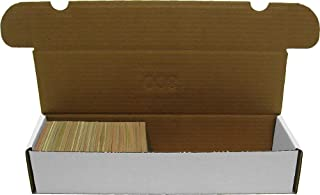 BCW 800-Count Storage Box for Standard 20pt Trading Cards, 200 lb. Test Strength (5-Count)