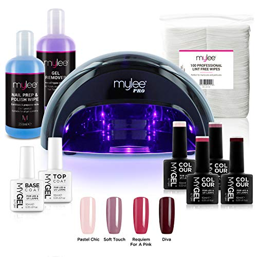 Kit Semipermanente Unghie Professionale Completo, 4x Smalti Gel MyGEL, Top...