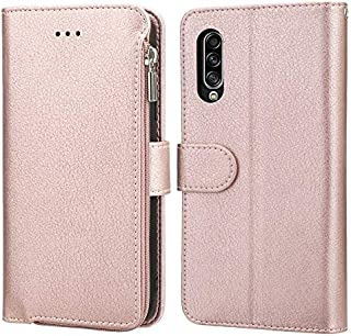 LINSMAO Cover Leather Case for Samsung Galaxy A90 5G, Large Space Zipper Card Holder Wallet Bag Phone Case, [Shockproof & ...