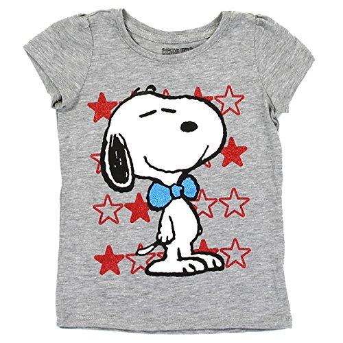 スヌーピー ピーナッツ Snoopy Peanuts Tシャツ 半袖 子供用 灰 (2T(90サイズぐらい)) [並行輸入品]
