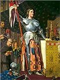 Poster 30 x 40 cm: Jeanne D'Arc bei der Krönung Karls VII.