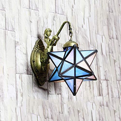 Kleurrijke wandlampen, elegante montagedecoraties, traditionele koperfolie van Handcut van glas, lampenkap van aluminium en acryl.