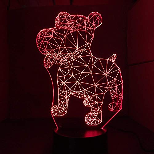 WMYATING Nuevo perro noche lámpara de mesa 16 colores ilusión luces para sala de estar lámpara decorativa decoración del hogar con control remoto-1314