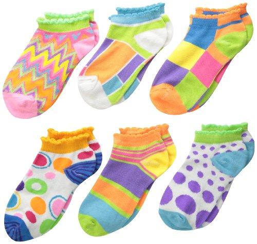 Jefferies Socks Mädchen Mod Low Cut Socken (6 Stück) - mehrfarbig - X-Small