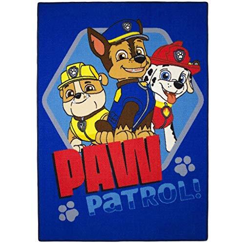 Associated Weavers Kids Corner 628915 Tapis de Sol Pat Patrouille Ready Velours Bleu 133 x 2 x 95 cm