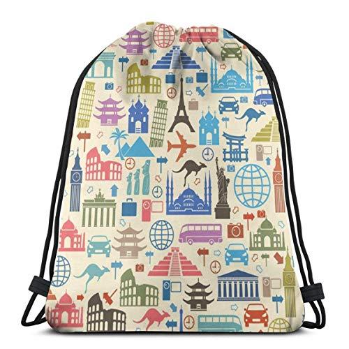 Yuanmeiju Sport Casual Daypack,Men Women Gym Bag,Kids Benched Bag,School Drawstring Backpack,Colored Tiger 3D Print String Bag Sackpack Cinch Tote Bags