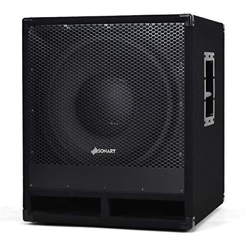 "Costzon 2000 Watts 15"" Active Powered PA DJ/Pro Subwoofer with DSP, 4"" Voice Coil, 2-Way Sound Reinforcement Loudspeaker, Subwoofer Cross 80HZ/100HZ/120HZ, UL Certified Plug (2000W)"