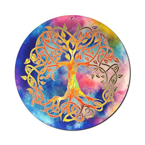 Sonnenfänger Baum des Lebens Nr. 20. Ø 15cm Geschenkidee Danke | Symbol der Liebe | Glücksbringer Lebensbaum | Deko Aufhänger Fensterbild | keltischer Weltenbaum Tree of Life Yggdrasil | Hängedeko Sommer