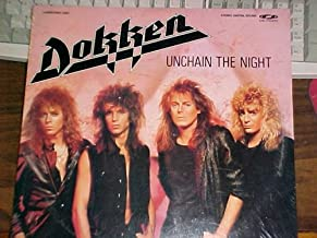 Laserdisc of DOKKEN UNCHAIN THE NIGHT Music Video. Into The Fire, Just Got Lucky, Breaking the Chains, Alone Again, The Hunter, In My Dreams, Its Not Love and 7 Conversations.