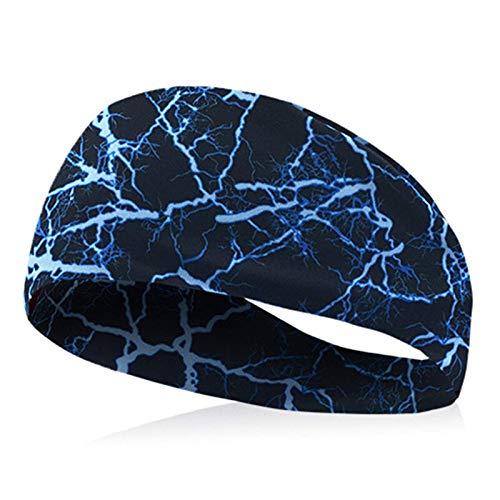 Lshbwsoif Diadema deportiva para hombre y mujer, para correr, yoga, gimnasio, caminar, ciclismo, talla única, color: azul