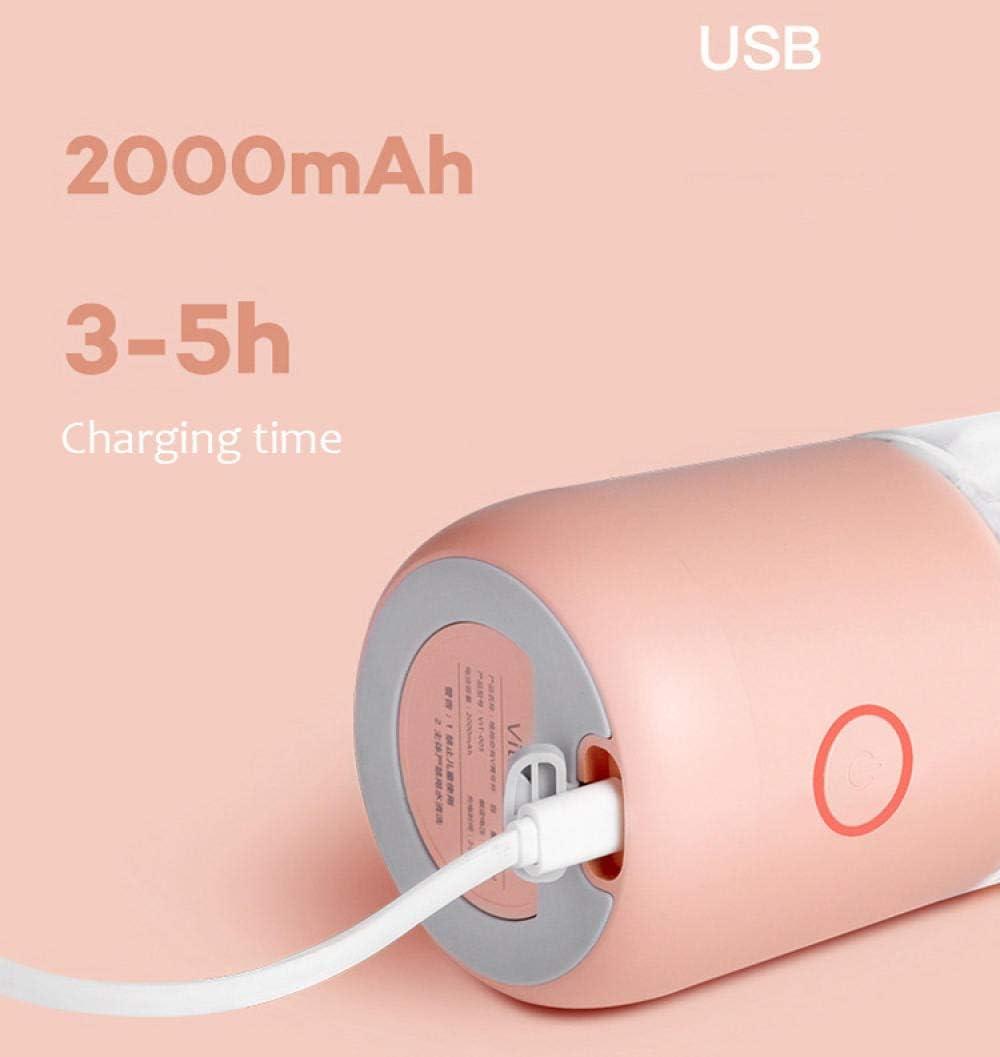 B/H Exprimidor USB de Cuatro Hojas, exprimidor portátil inalámbrico, Polvo de Cerezo Milky White
