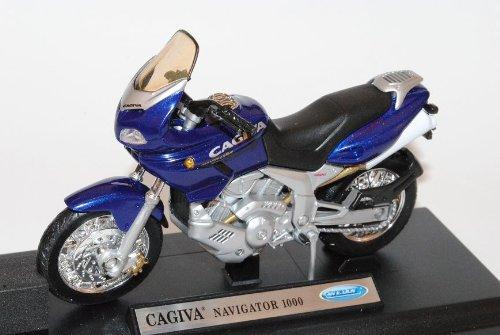 Welly Cagiva Navigator 1000 Blau 1/18 Modell Motorrad mit individiuellem Wunschkennzeichen