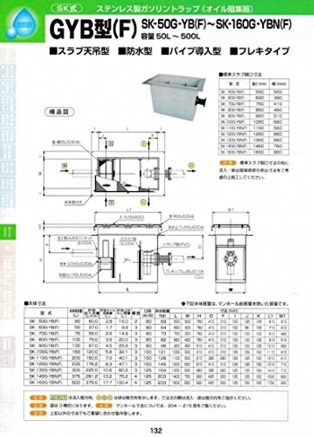 バンカー匿名製造業GYB型(F) SK-110G-YB(F) 耐荷重蓋仕様セット(マンホール枠:ステンレス / 蓋:SS400) T-2