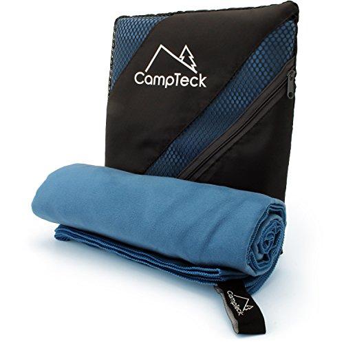 CampTeck U5535 Large (180x80cm) Serviette de Bain Microfibre Légère et Compacte pour Sport, Salle de Gym, Plage, Natation, Yoga, Camping et Bien Plus