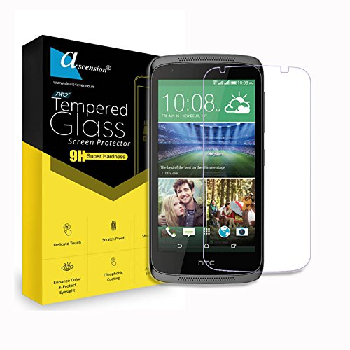 Ascension Curve Tempered for HTC Desire 526 Gorilla Glass Screen Protector High 9H Hard 2.5D Ultra Clear Transparent