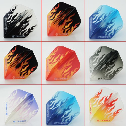 5 x gemischt Sets of Target Vision Flames Dart Flights Standard Form