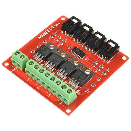 ARCELI 4 Canales 4 Ruta MOSFET Button IRF540 V2.0 + MOSFET Switch Module para Arduino