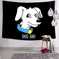 犬のお父さんタペストリーサイケデリックアート壁画寝具壁掛け装飾寝室リビングルーム寮ホームタペストリー60x40インチ