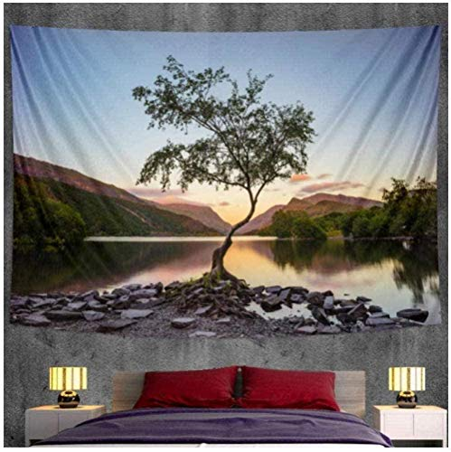 DGSJH Tapiz de paisaje decoración del hogar tapiz Hippie decoración dormitorio escena cama sábana sofá manta 150x200cm