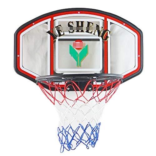 MHCYKJ Canasta Baloncesto Interior Puerta Juego De Aro Mini Infantil Instalar con Dos Pelotas Y Inflador Bola Bomba para Jugar Al Aire Libre En El