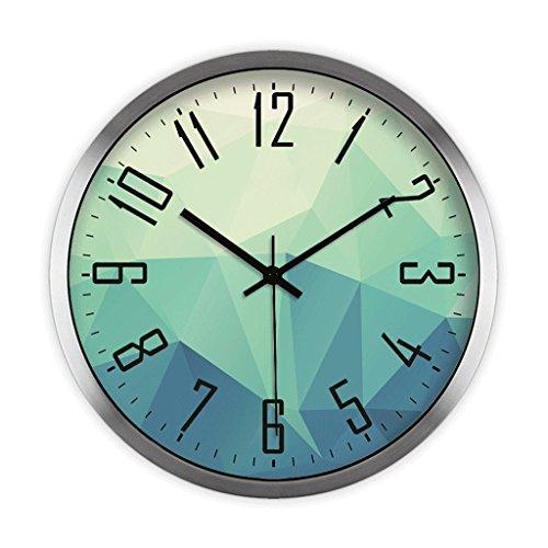 Personalizado circular mudo polígono geométrico patrón salón despertador, vidrio de alta definición...