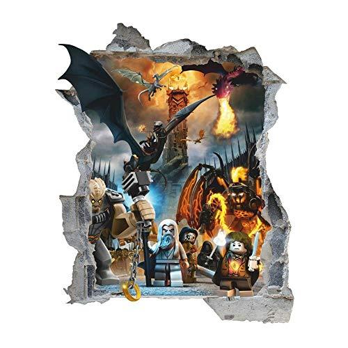 DDSYJ Etiqueta de la pared 3d Adhesivos De Pared 3D Hero Character Series Desmontable