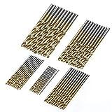 Accesorios de herramientas 50 unids de alta velocidad de acero de acero extractor de broca titanio titanio revestido de titanio herramienta de madera para el metal plástico de la madera 1 / 1.5 / 2 /