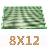 5pcs/lot 8X12cm DIY Double Side Prototype PCB Universal Printed Circuit Board Protoboard For Arduino Experimental Plate