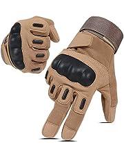 Hikeman tactische softair militaire handschoenen voor mannen en vrouwen, geschikt voor touchscreen, harde knokkelhandschoenen voor bij de jacht, schieten, op de motorfiets, fietsen, wandelen, houtbouw en zware industrie