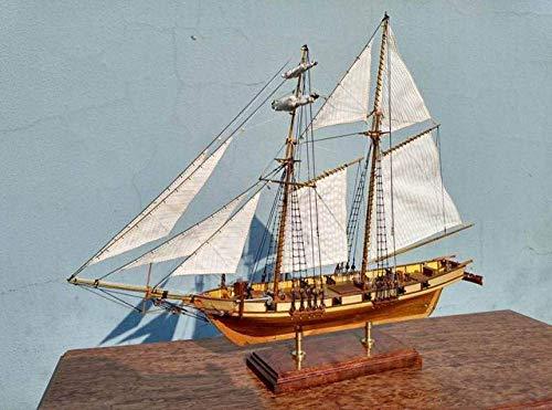 XIUYU Wohnzimmerdekorationen Wasserfahrzeug Modellbau Kits Modell Fahrzeug Maßstab 1/96 Classics Antike hölzerne Segelboot Model Kits Harvey 1847 Holzschiff Model Kit
