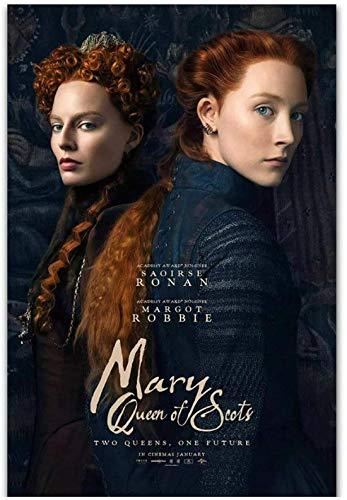 Eryan Mary Queen of Scots Película Saoirse Ronan Margot Robbie Canvas Pintura Poster Prints Home Wall Art Room Sala de estar Decoración de la casa -50X70 CM Sin marco