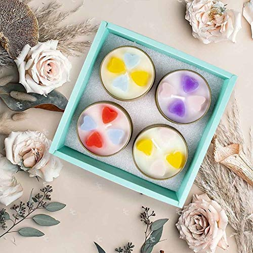 WenJiaShanGDSH Beautifully Aromatherapy Candle Set Four Family Travel Aromatherapy Candles Valentine's Day Candles Kit Exquisite Concise And Beautiful for Women, Valentine's Day, Mother's Day