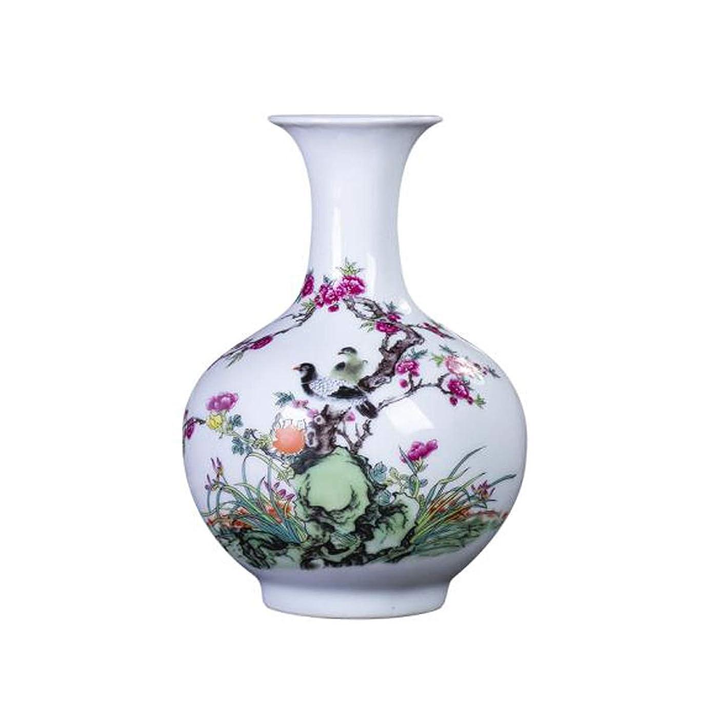 シマウマシソーラス告白CPWJD 花瓶セラミック花瓶の装飾リビングルームフラワーアレンジメントアンティーククラシックホームデコレーション (Color : White)