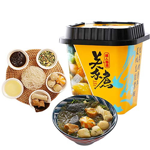 Mini Instant Hot Pot, Japanese Oden Soup Mix, Cup Noodle with Soup Base, Including Sweet Potato Noodles, Fish Balls, Crab Meat, Tofu...Etc, Not Spicy, Asia Delicious (Mushroom soup)