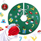 KATELUO 89CM Gonna Albero di Natale, Gonne per Alberi di Natale, Copertura Albero di Natal...