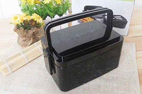 Caja De Almuerzo Fiambrera Microondas Cajas De Plástico Portátiles De Mano