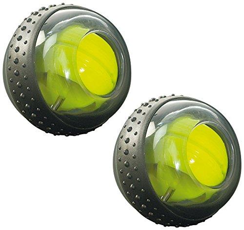 RotaDyn Rotations-Ball für Hand- und Armtraining, mit 10.000 Umdr./M, 2er-Set (Gyroball)