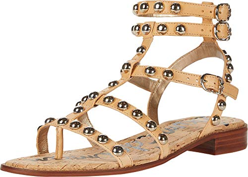 Sam Edelman Women's Eavan Gladiator Sandal Natural Sand 8 W