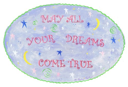 The Kids Room by Stupell May All Your Dreams Come True Night Sky Oval Wall Plaque