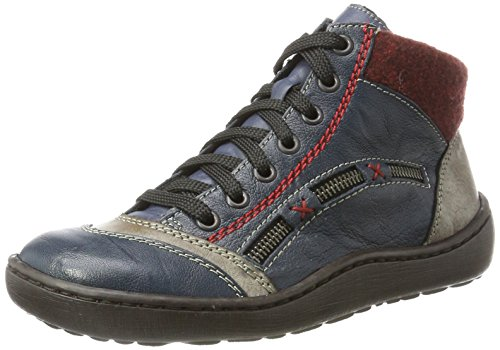 Rieker Damen 44443 Stiefel, Blau (Royal/Cigar/Bordeaux/Royal 14), 36 EU