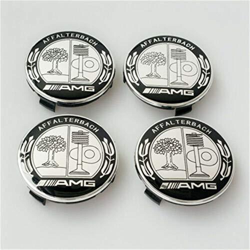Yika 3D-Auto-Logo Chrom Aufkleber f/ür AMG C CL CLS CLK S SLK SLS E M G GL GLK Klasse 2 St/ück schwarzes Emblem