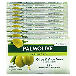 Palmolive Naturals Bar Soap Moisture Care Aloe and Olive Extracts, 10 x 90g (B07NTHKB7Y) | Amazon price tracker / tracking, Amazon price history charts, Amazon price watches, Amazon price drop alerts