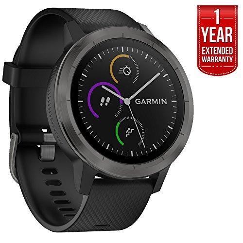 Garmin 010-01769-11 Vivoactive 3 GPS Fitness Smartwatch (Black & Gunmetal)...