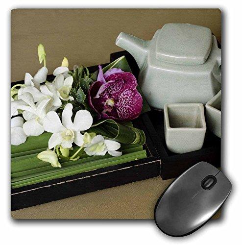 3dRose 8x 8x 0.25Inches Mouse Pad, Thai juego de tetera y tazas por Cindy Miller Hopkins (MP 132963_ 1)