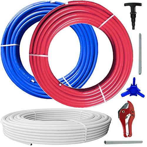 Mehrschichtverbundrohr Heizung Trinkwasser DVGW > 16x2 | 20x2 | 26x3 | 32x3 mm > 1 m bis 100 m oder Wunschlänge rot/blau isoliert > SORTE einfach auswählen >>> 16 x 2,0 mm | blau isoliert | 10 m