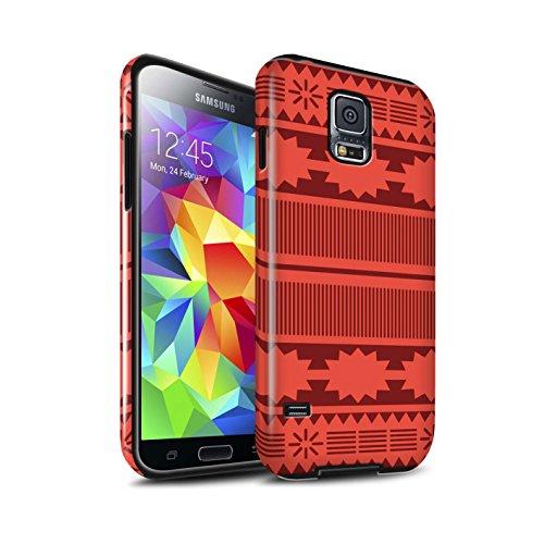Stuff4 Glanz Harten Stoßfest Hülle/Case für Samsung Galaxy S5 Neo/G903 / Aztek/Prinzessin Kleid Muster/Karikatur Polynesische Prinzessin Kollektion
