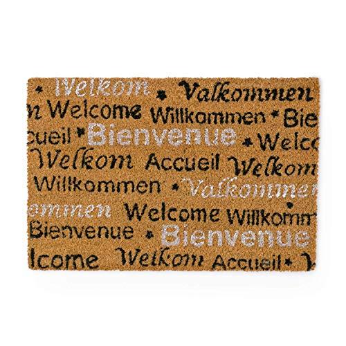 Montse Interiors - Fußmatte, 40 x 60 cm | Schmutzfangmatte: Vorleger für den Eingangsbereich - Internationales 'Willkommen' - Design