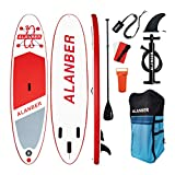 ALanber Inflatable Sup Stand Up Paddle Board 10'6'x32'x6' Ultra-Light (17.6lbs)...
