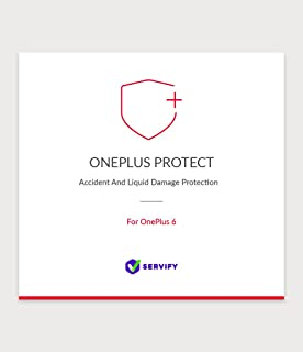 Servify OnePlus Protect - 1 Year Accident and Liquid Damage Protection Plan for OnePlus 6 64GB
